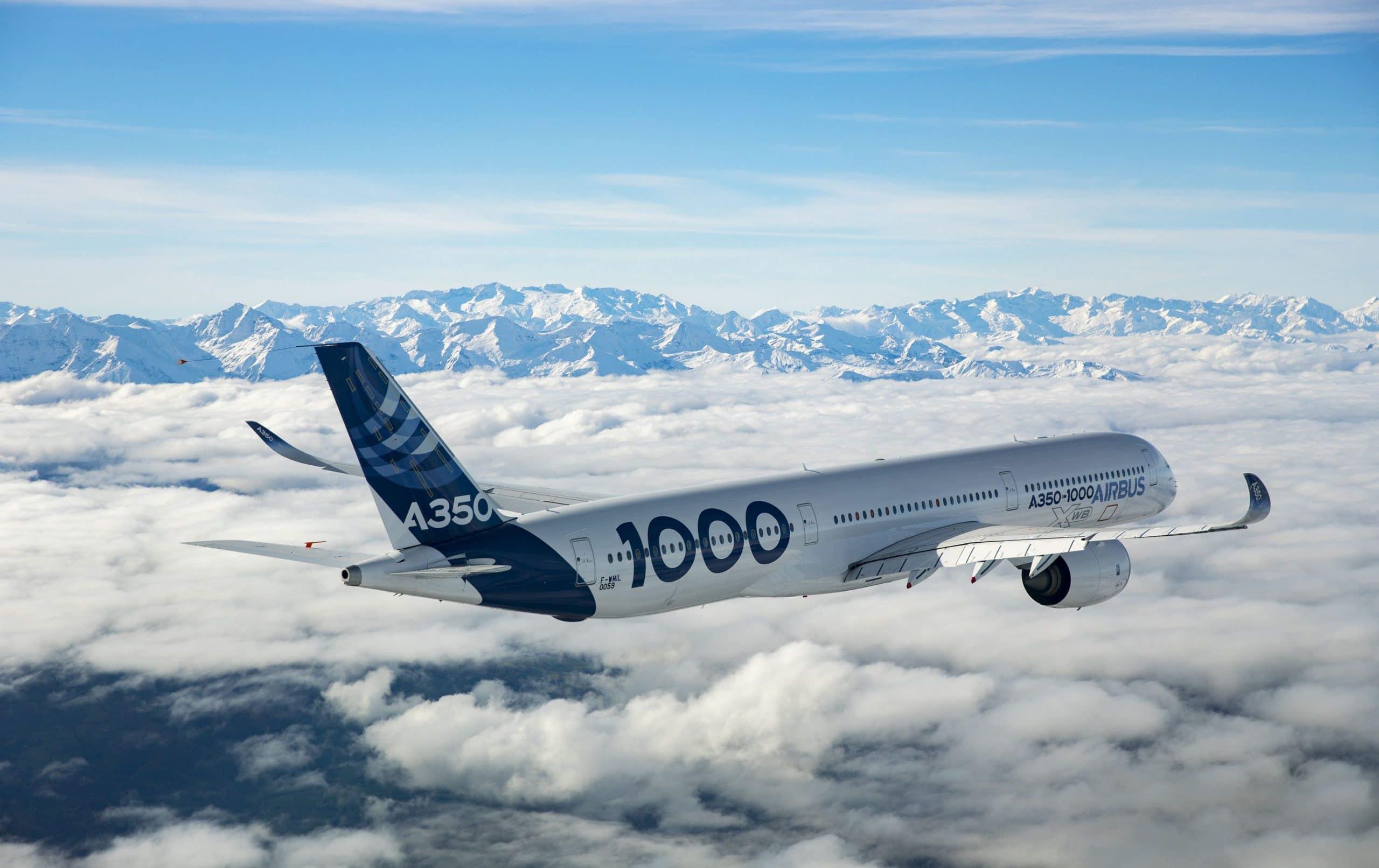 airbus A350 1000 vol montagnes